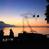 Sunset in Montreux, Switzerland