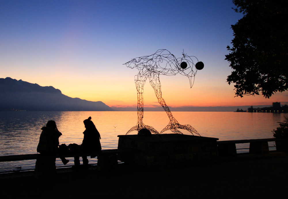 photoblog image Sunset in Montreux, Switzerland