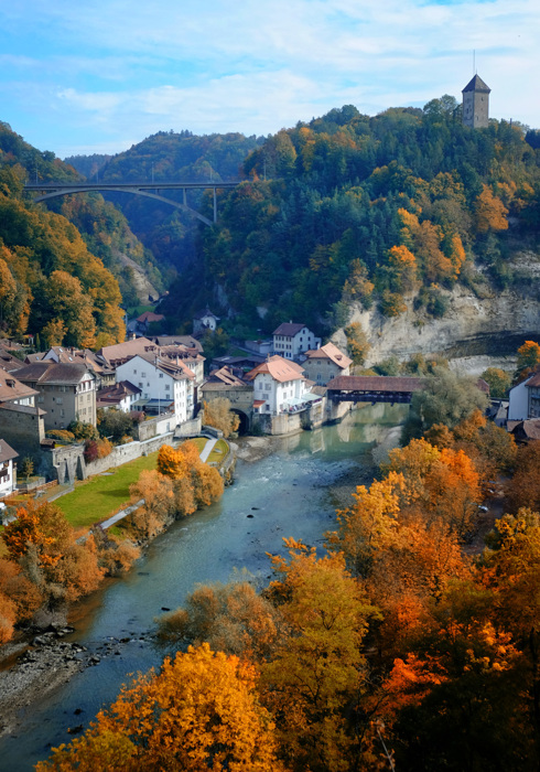 photoblog image Colorful Valley in Fribourg, Switzerland
