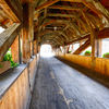 Covered Bridge in Fribourg, Switzerland