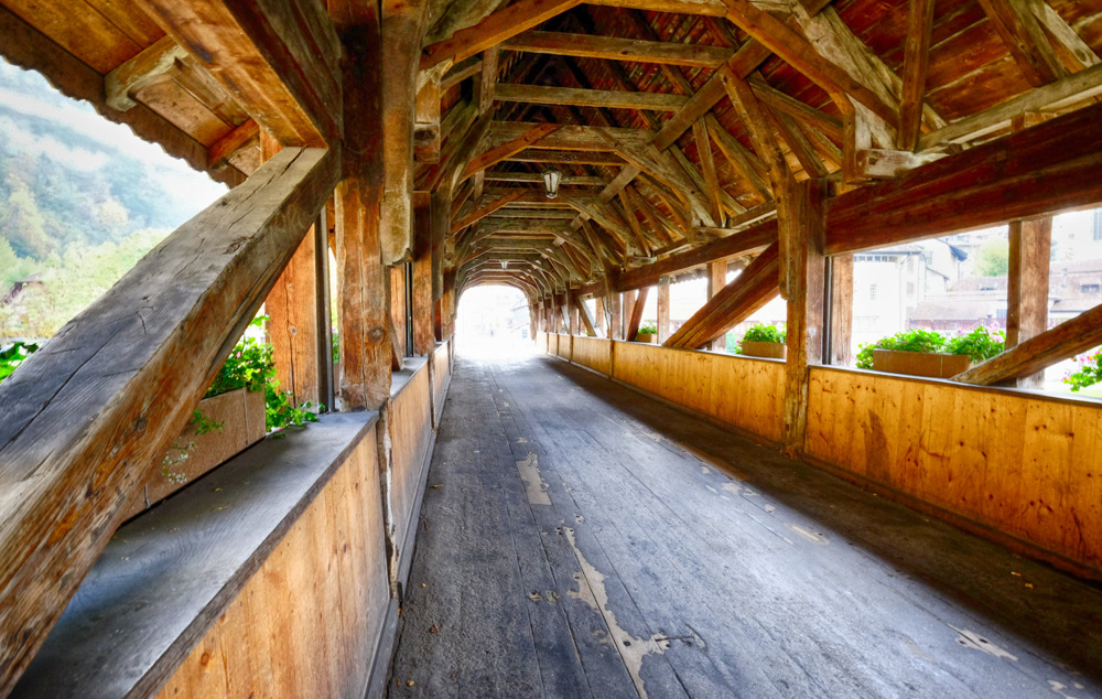 photoblog image Covered Bridge in Fribourg, Switzerland