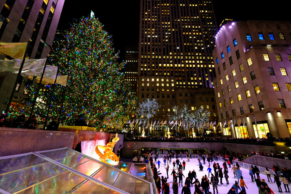 photoblog image Christmas at Rockefeller Center in New York City