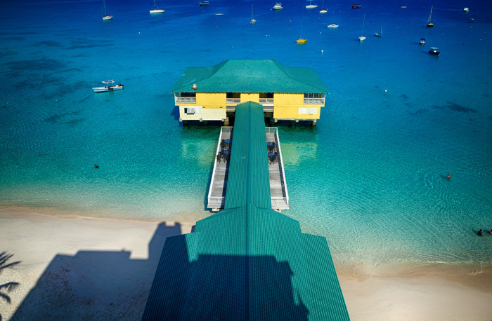 Colorful Pier in Barbados