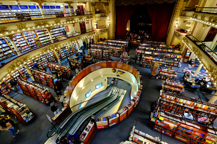 Stunning Bookstore in Buenos Aires, Argentina