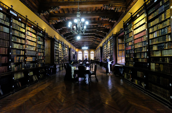 Santo Domingo Convent Library in Lima, Peru
